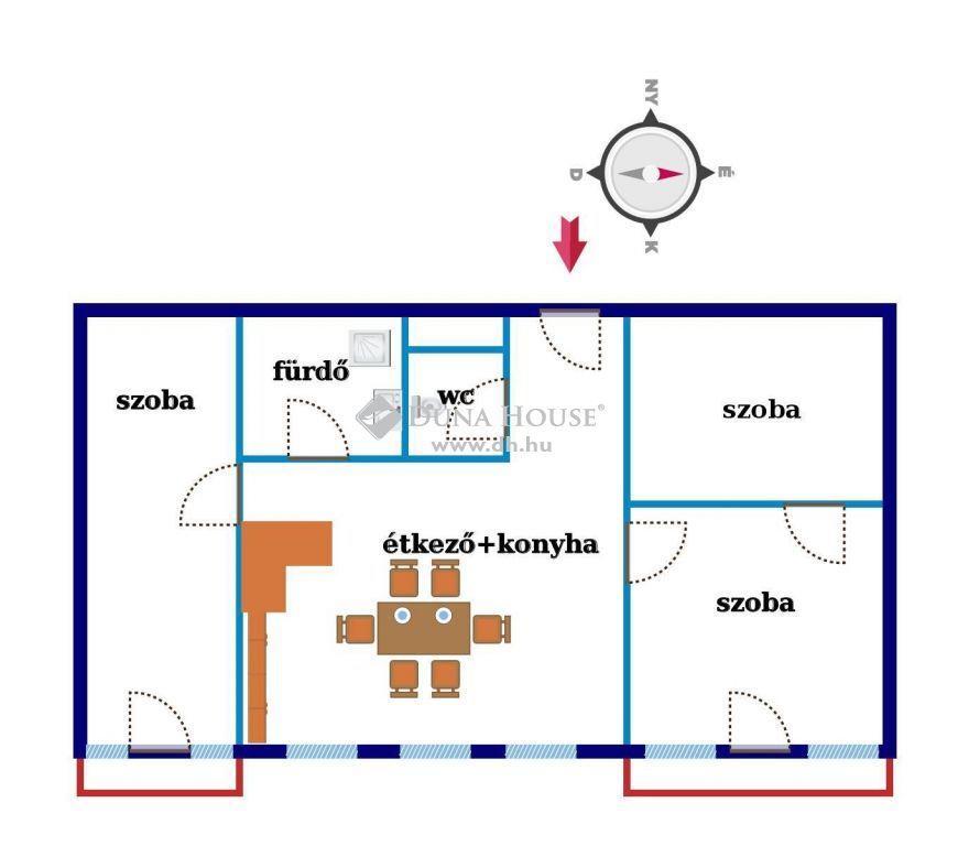 Eladó Lakás, Zala megye, Nagykanizsa - Első emeleti két erkélyes lakás