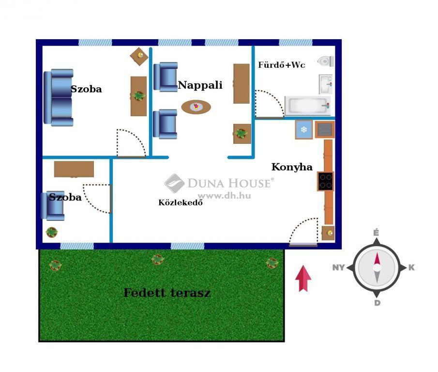 Eladó Lakás, Zala megye, Nagykanizsa - Belvárosközeli társasházi lakás 42 nm2-es terasszal